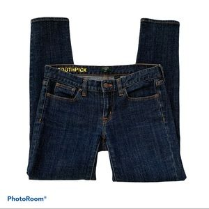 J. Crew Factory Toothpick Stretch Skinny Jeans 25